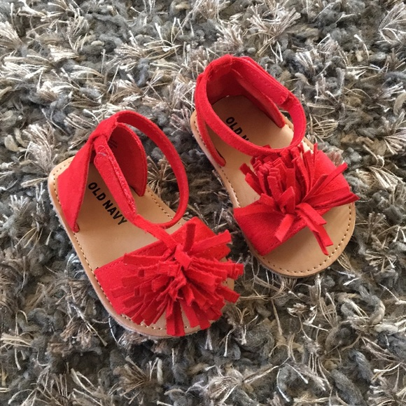 Old Navy Shoes | Baby Girl Red Sandals